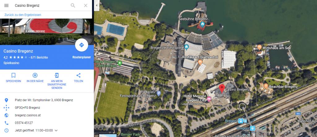 Casino Bregenz maps